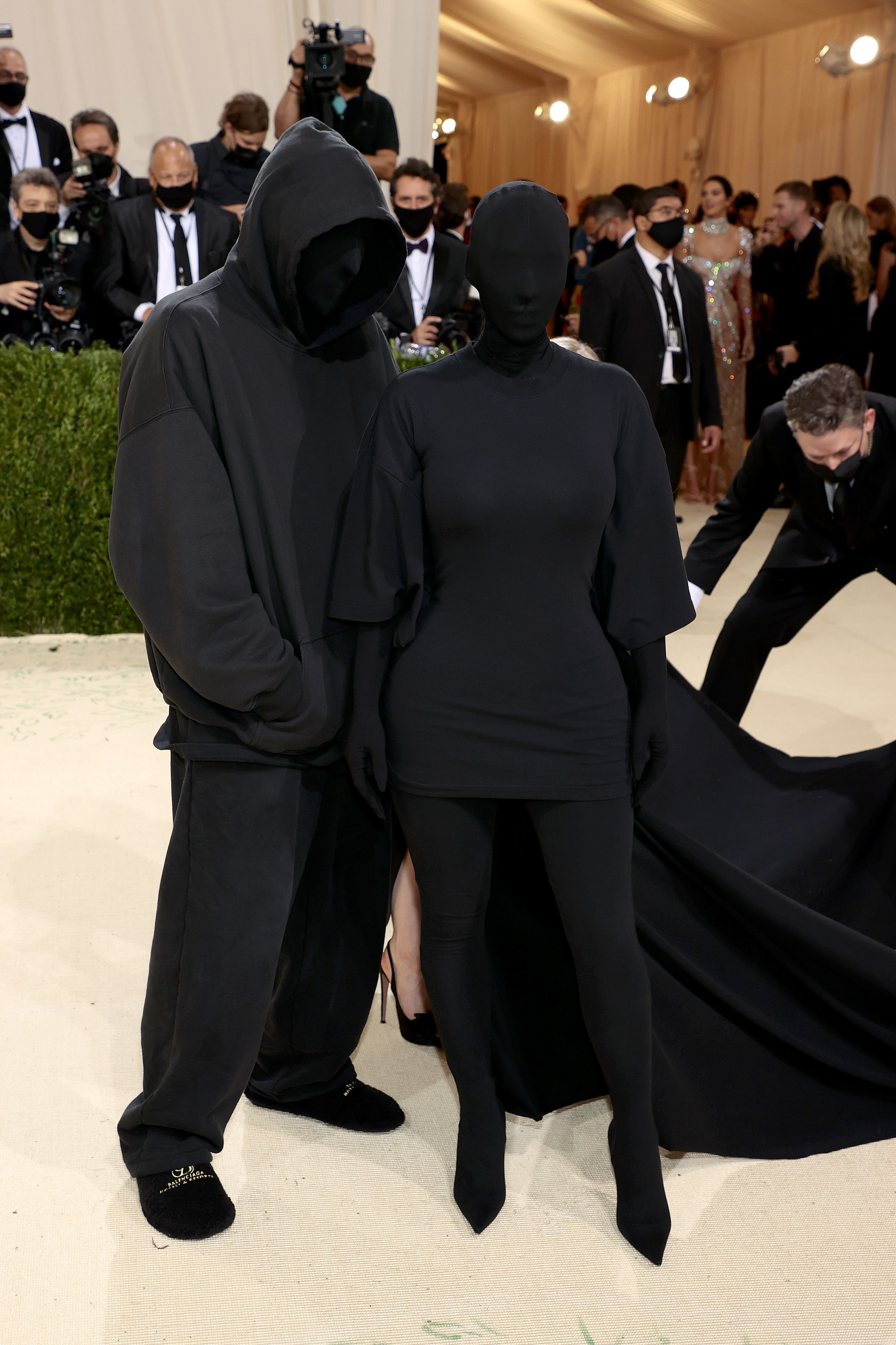 Demna Gvasalia and Kim Kardashian appeared together at the 2021 Met Gala, New York. | Photo: Getty Images