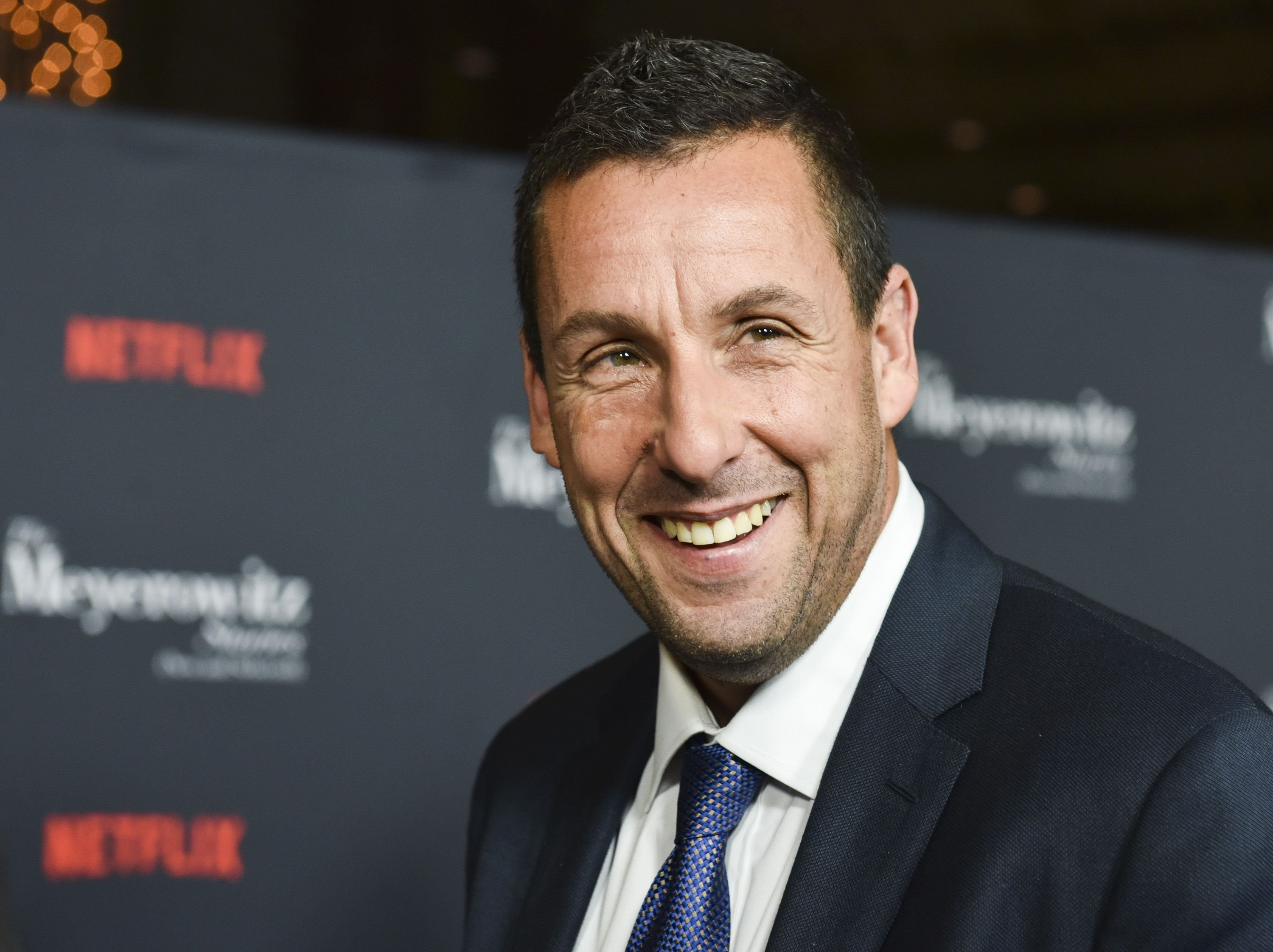 "Adam Sandler attends a screening of Netflix's ""The Meyerowitz Stories (New and Selected)"" at Directors Guild Of America. 