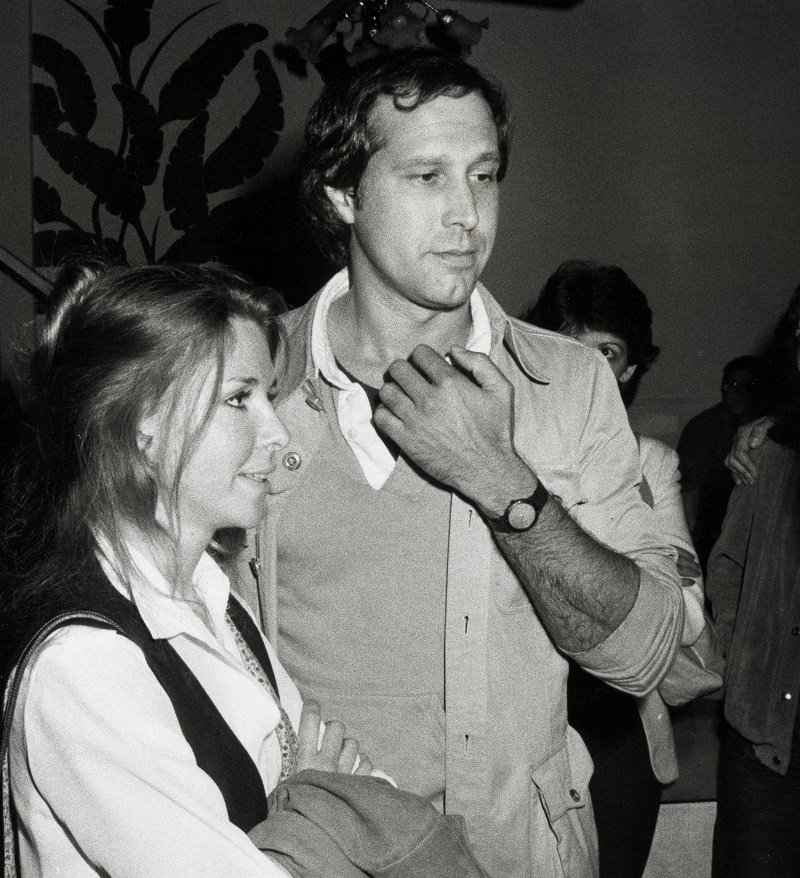 Jayni Chase and Chevy Chase on April 15, 1982 in Los Angeles, California | Photo: Getty Images