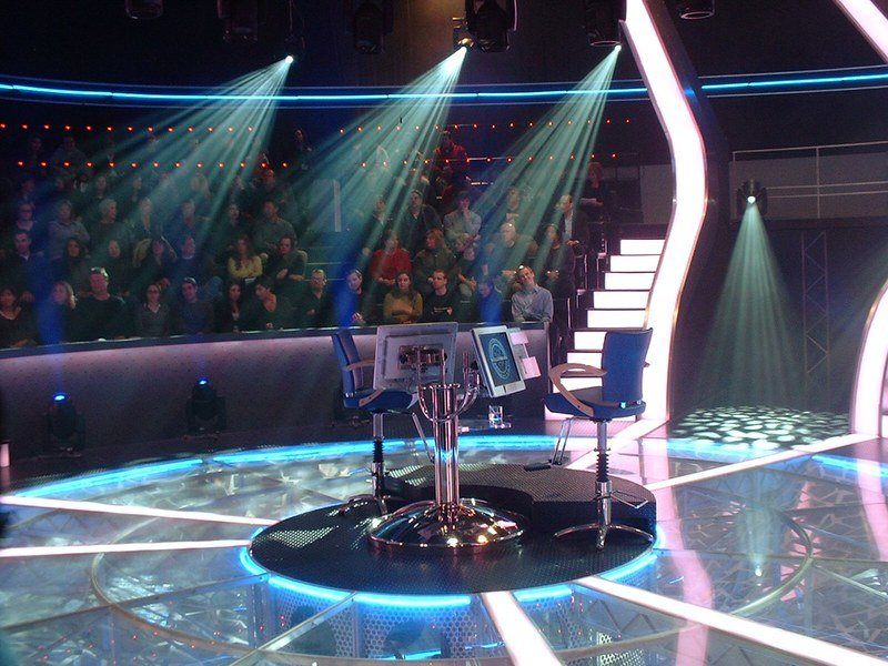 """The set of  the """"Who Wants to be a Millionaire"""" show. 