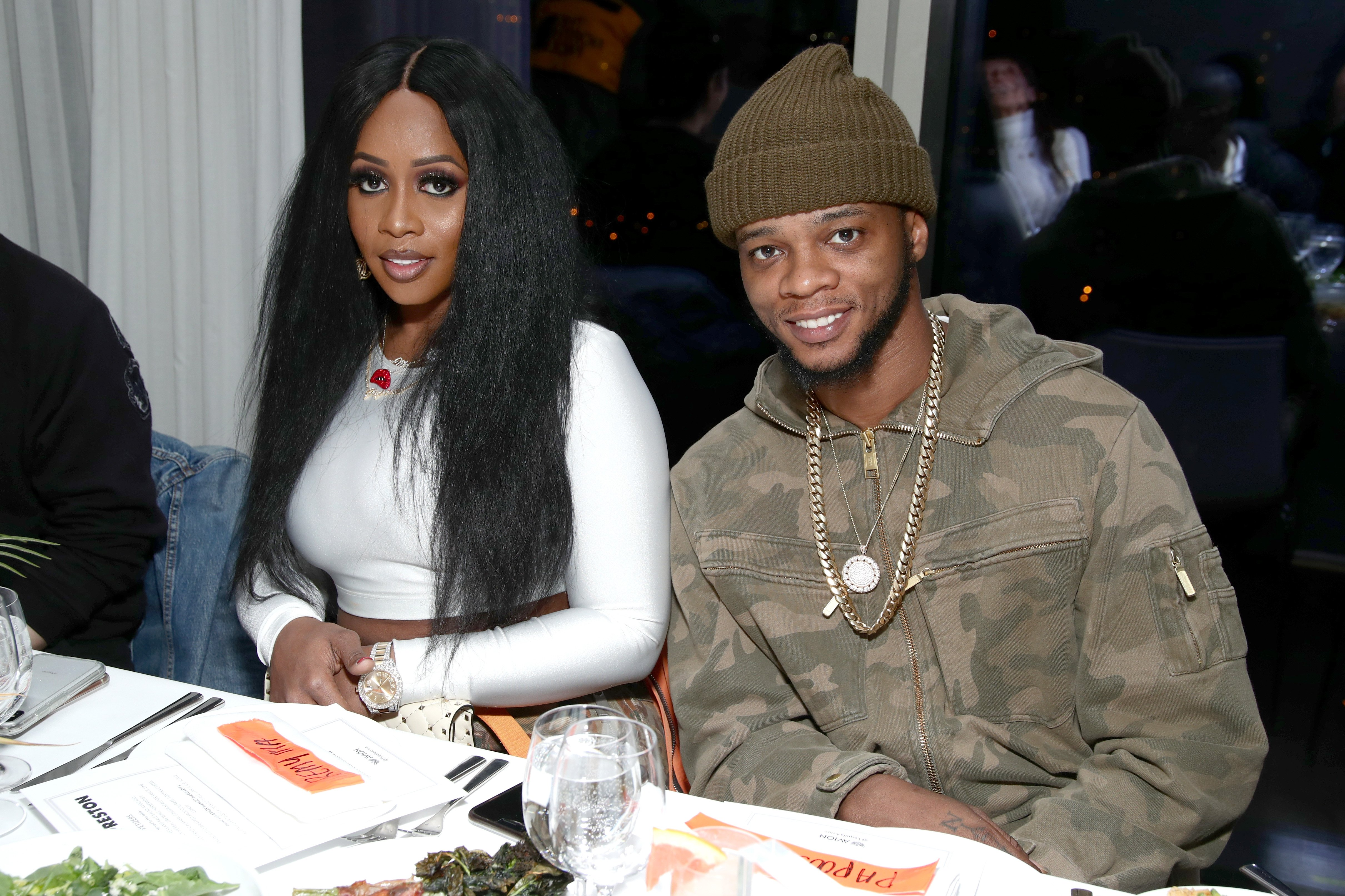 Remy Ma and Papoose Mackie attend the Heron Preston + Tequila Avion Dance Party on February 13, 2018. | Photo: Getty Images