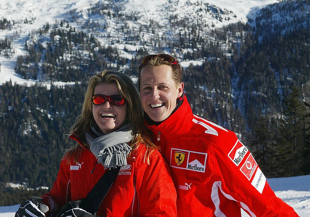 Michael Schumacher with wife Corinna in the winter resort of Madonna di Campiglio, in the Dolomites area, Northern Italy | Photo: STR/AFP via Getty Images