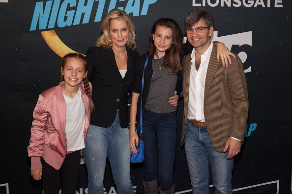 Ali Wentworth, George Stephanopolous, daughters Harper and Elliott Stephanopolous at Crosby Street Hotel on November 15, 2016 in New York City.   Photo: Getty Images.