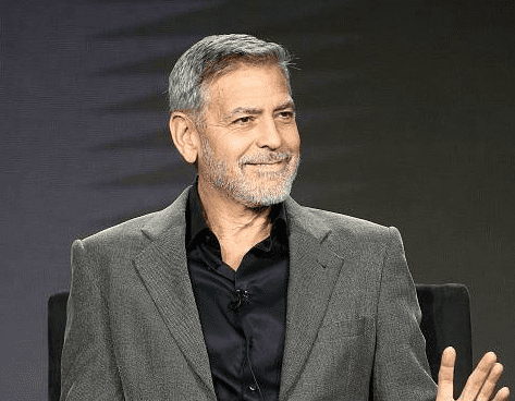 """George Clooney of the television show """"Catch 22"""" speaks during the Hulu segment of the 2019 Winter Television Critics Association Press Tour at The Langham Huntington, Pasadena on February 11, 2019 . 