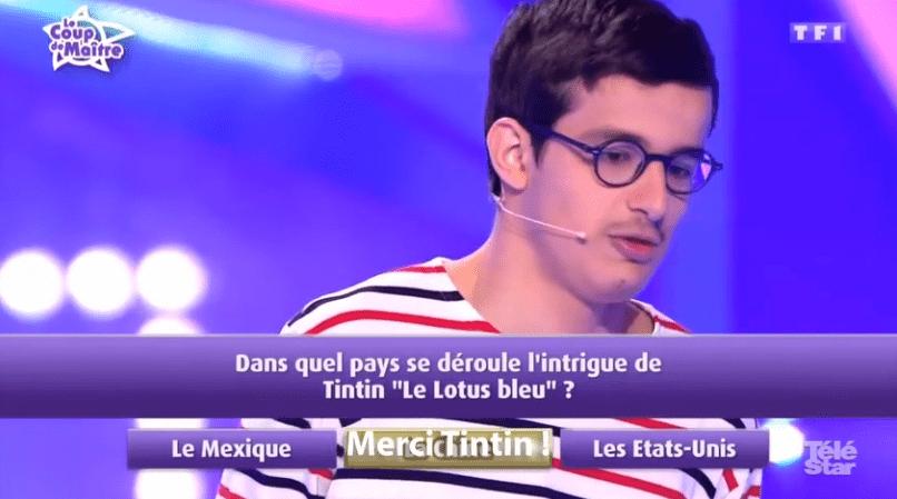Paul gagne 10 000 € grâce à Tintin | Téléstar