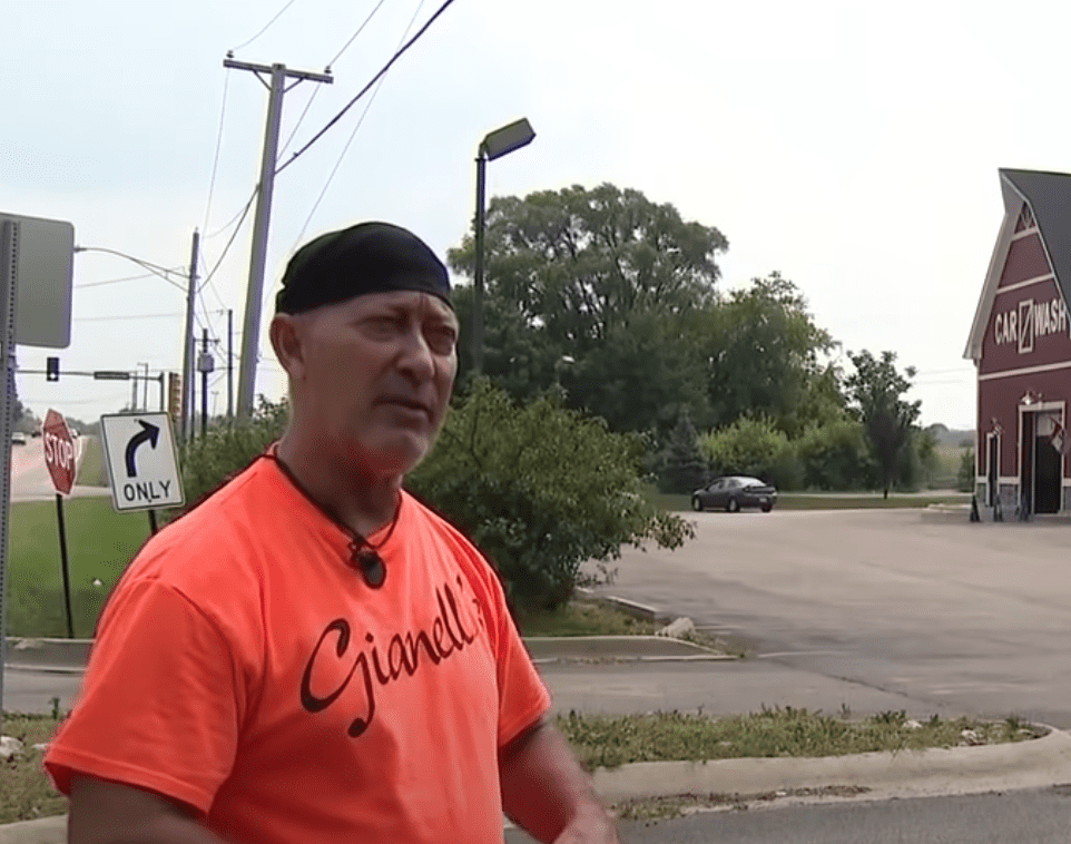 The business owner explains why he will be taking the village council to court regarding his tickets | Photo: Youtube/FOX 32 Chicago