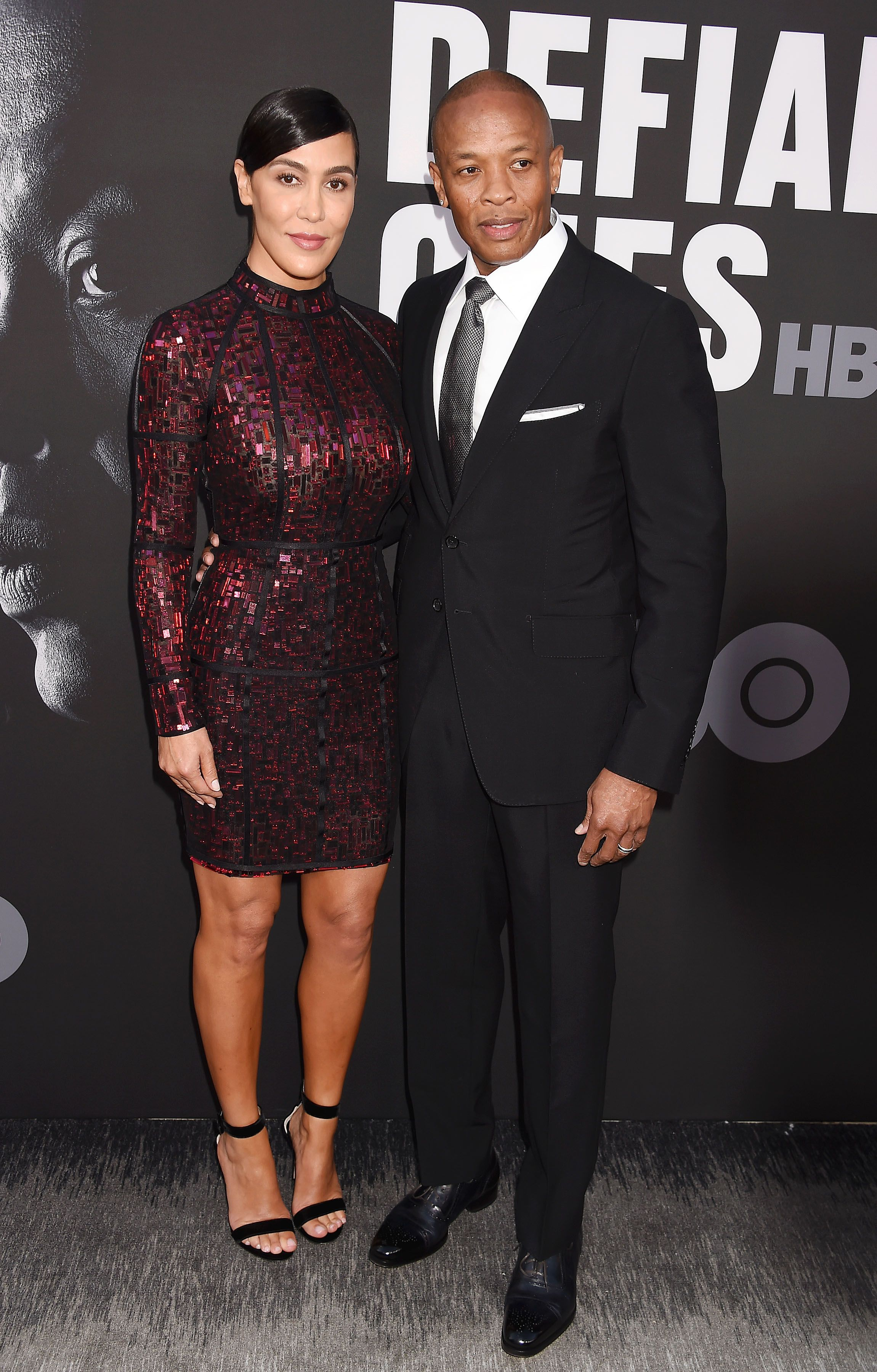 """Nicole Young and Dr. Dre at the premiere of HBO's """"The Defiant Ones"""" on June 22, 2017 
