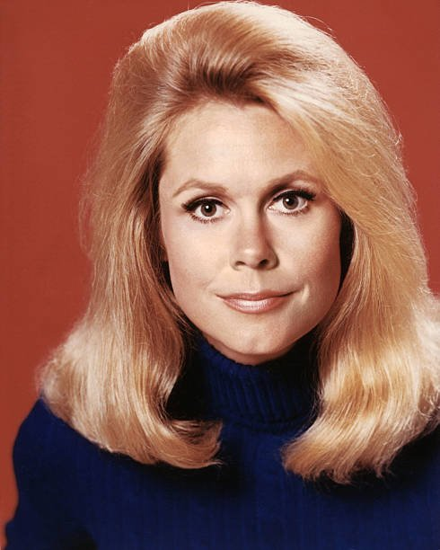 """Elizabeth Montgomery poses for a portrait photo while filming """"Bewitched"""" circa 1968 