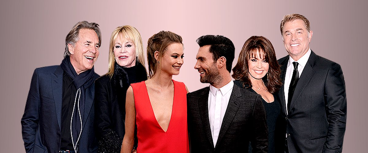 Melanie Griffith and Don Johnson; Adam Levine and Behati Prinsloo; Marie Osmond and Steve Craig | Photo: GettyImages