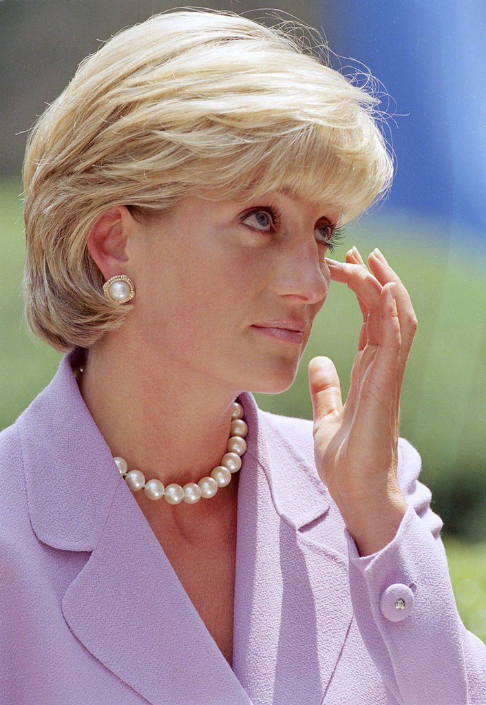 Late Princess Diana Spencer, visiting Washington to give an anti-landmines speech at The Red Cross Headquarters in June 1997. I Image: Getty Images.