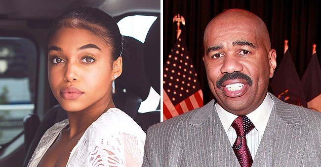Steve Harvey's Daughter Lori Turns up the Heat Posing on a Yacht in a Green Versace Swimsuit