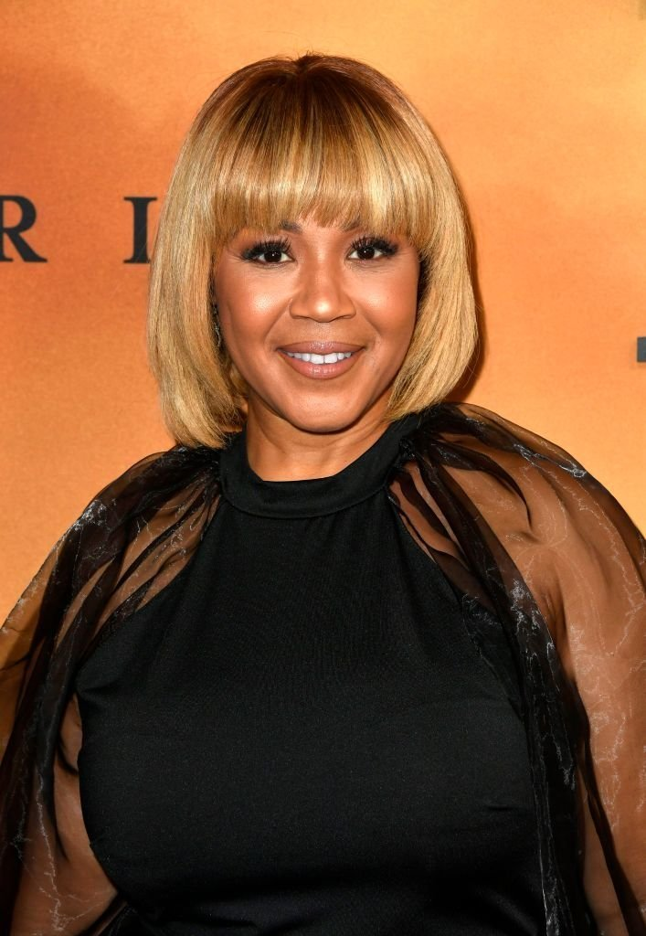 "Erica Campbell attends the premiere of Focus Features' ""Harriet"" at The Orpheum Theatre 