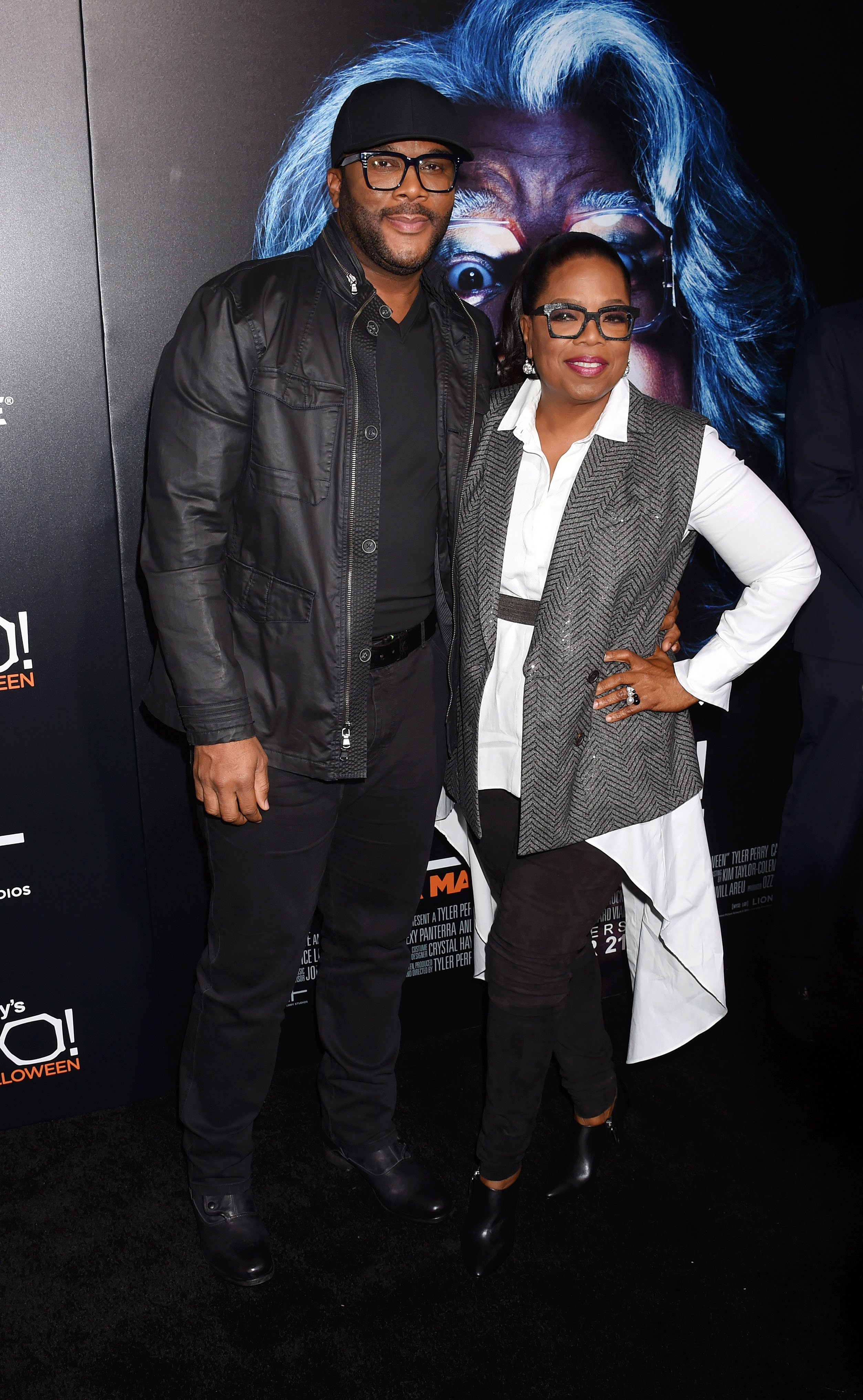 Tyler Perry and Oprah Winfrey at the premiere of 'Boo! A Madea Halloween' on Oct. 17, 2016 in California | Photo: Getty Images
