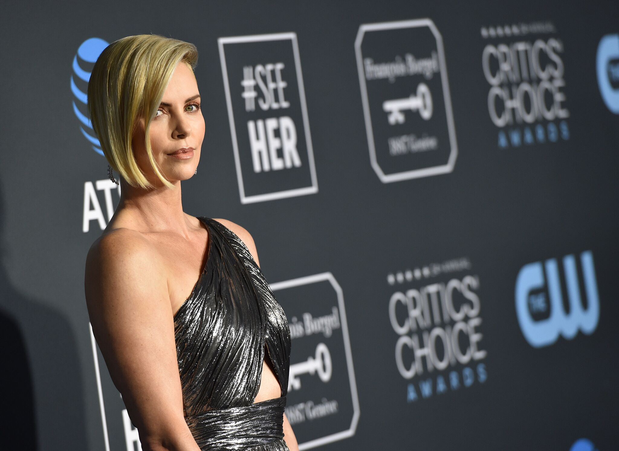 Charlize Theron attends the 24th Annual Critics' Choice Awards at Barker Hangar | Getty Images