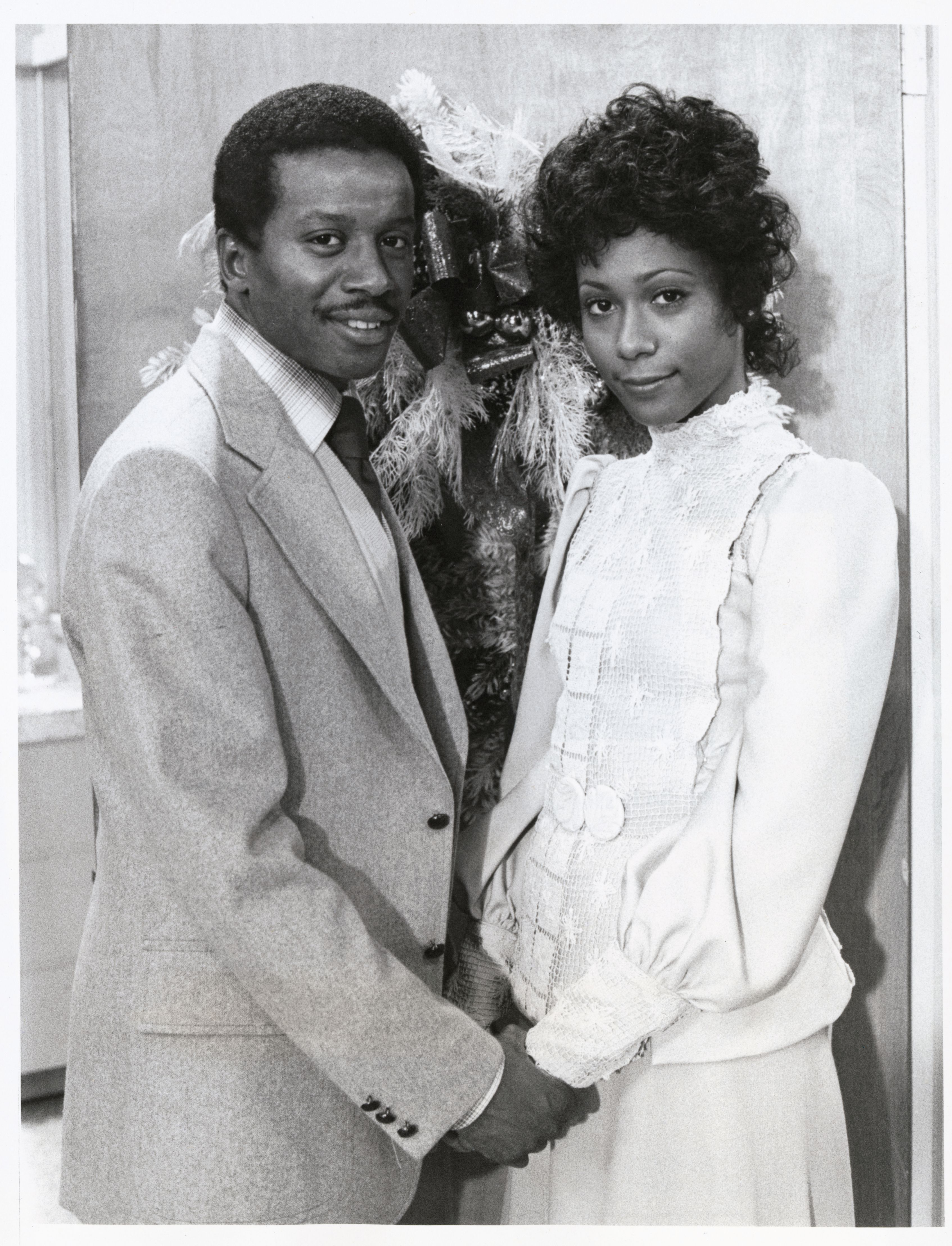 """Damon Evans, as Lionel Jefferson, and Berlinda Tolbert, playing Jenny Willis in the sitcom, """"The Jeffersons.""""
