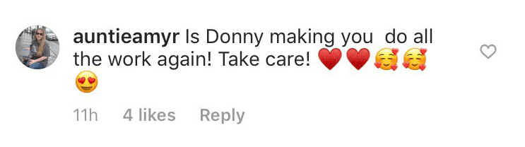 A supportive comment from a concerned fan | Instagram: @marieosmond