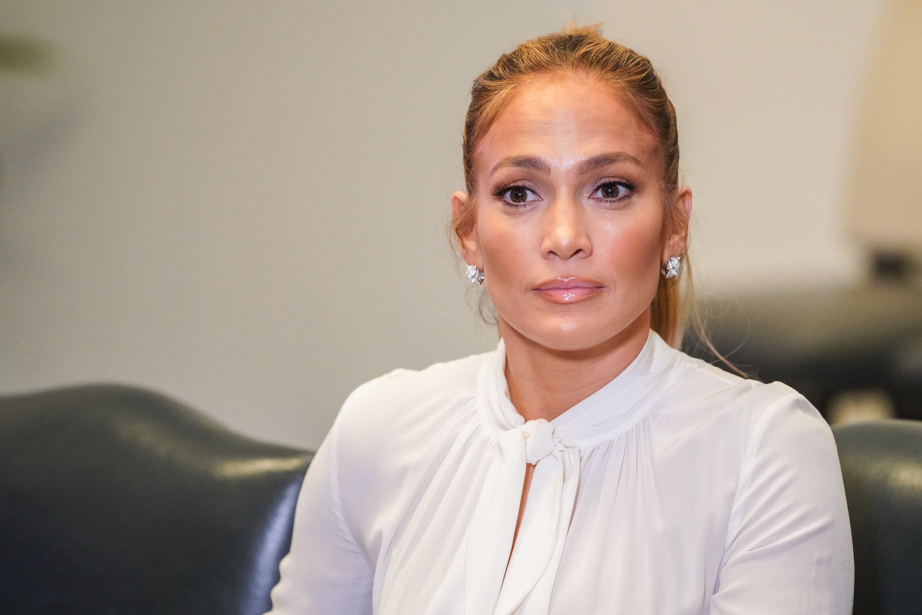 """Jennifer Lopez attends """"Project Destined"""" Yankees Shark Tank Presentations at Yankee Stadium on March 4, 2018 in New York City 