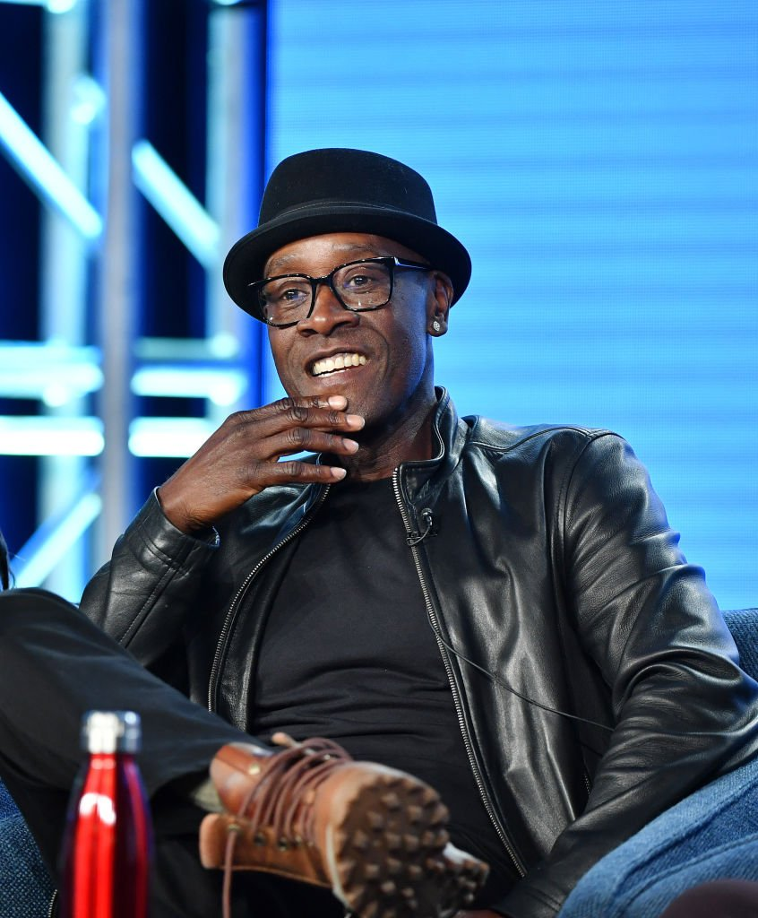 """Don Cheadle of """"Black Monday"""" speaks during the Showtime segment of the 2020 Winter TCA Press Tour 
