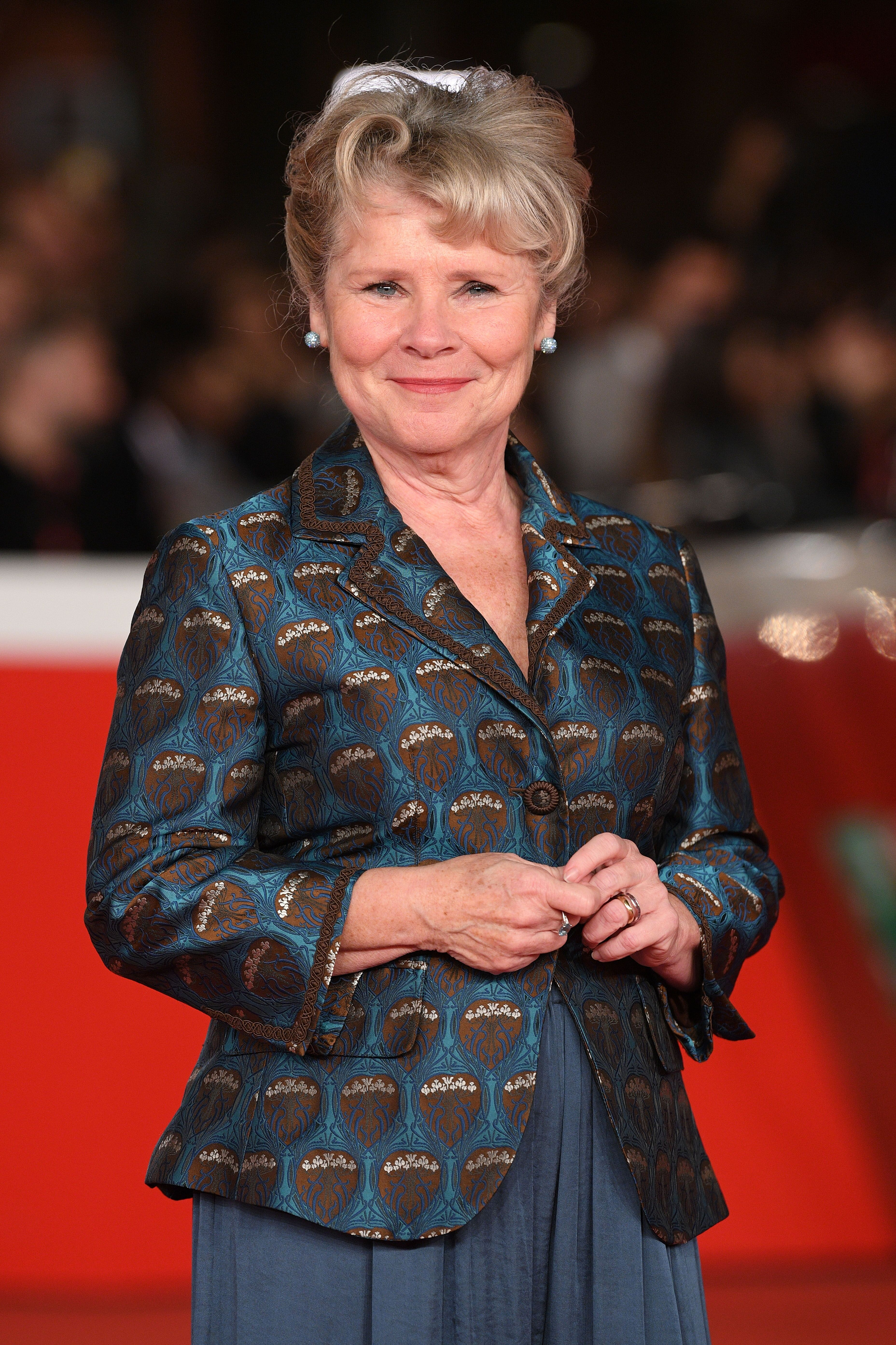 """Imelda Staunton attends the """"Downton Abbey"""" red carpet during the 14th Rome Film Festival. 