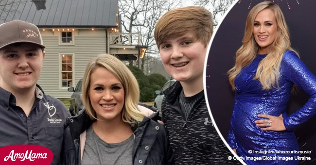Carrie Underwood shows her natural beauty while posing with 2 fans in a rare public appearance