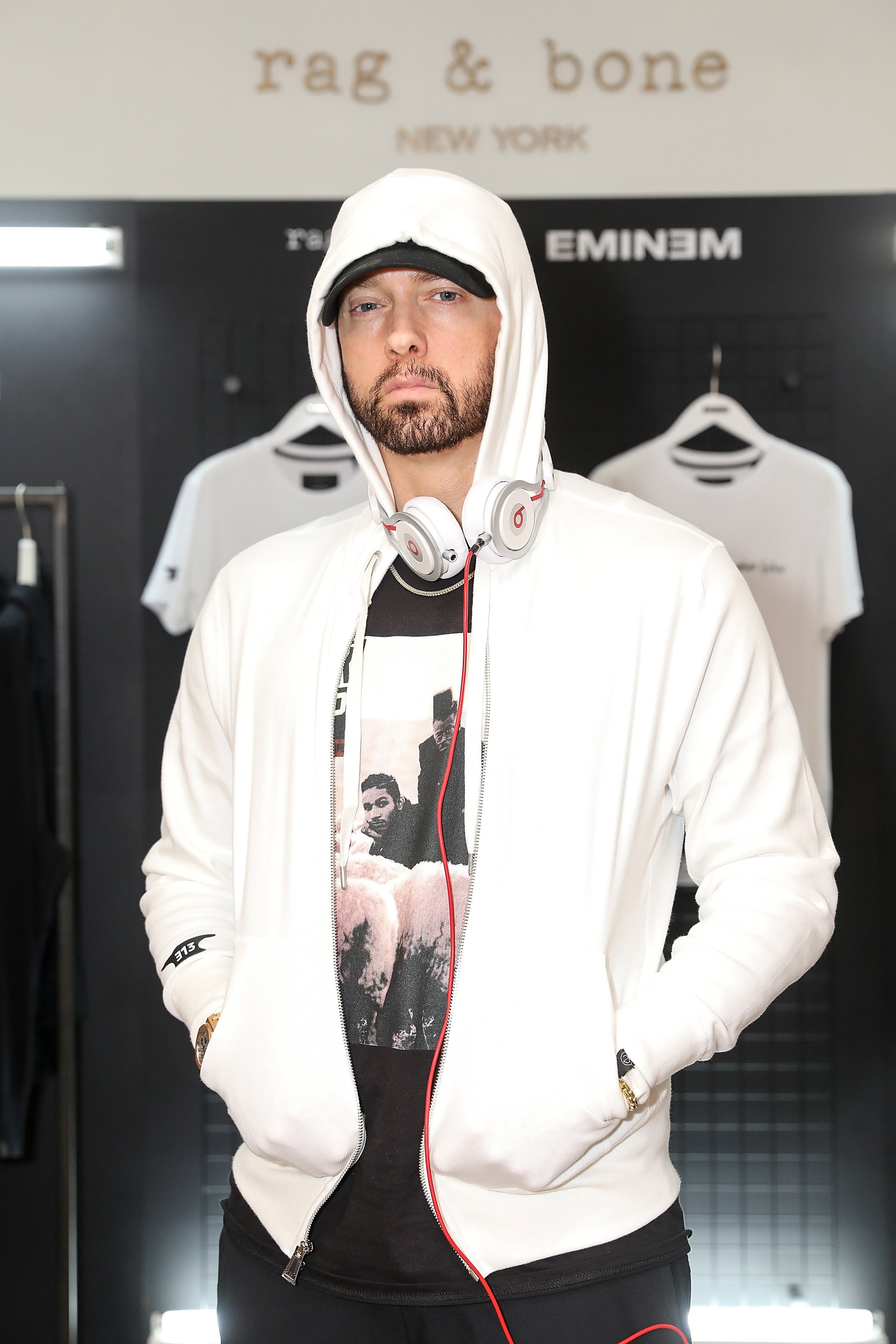 Eminem at the Rag & Bone X Eminem London Pop-Up Openin in London, England | Photo: Getty Images