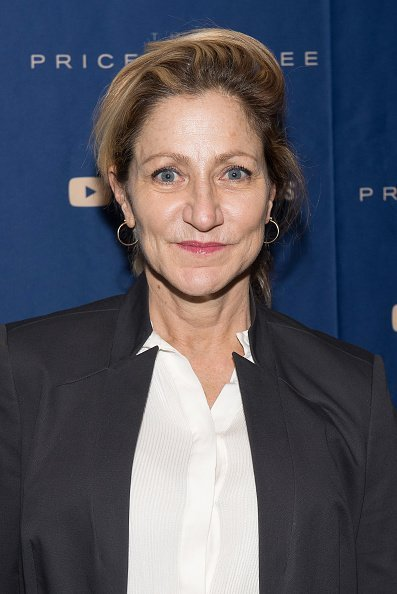 "Edie Falco at the New York screening of ""The Price of Free"" hosted by YouTube and Participant Media in New York City.