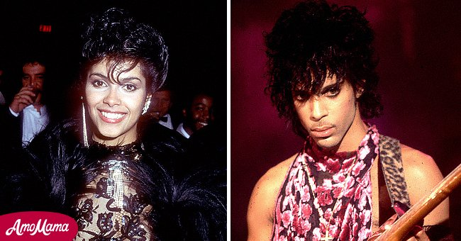 """Picture of Pop legend, Prince and his muse for the song, """"Purple Rain"""" Vanity 