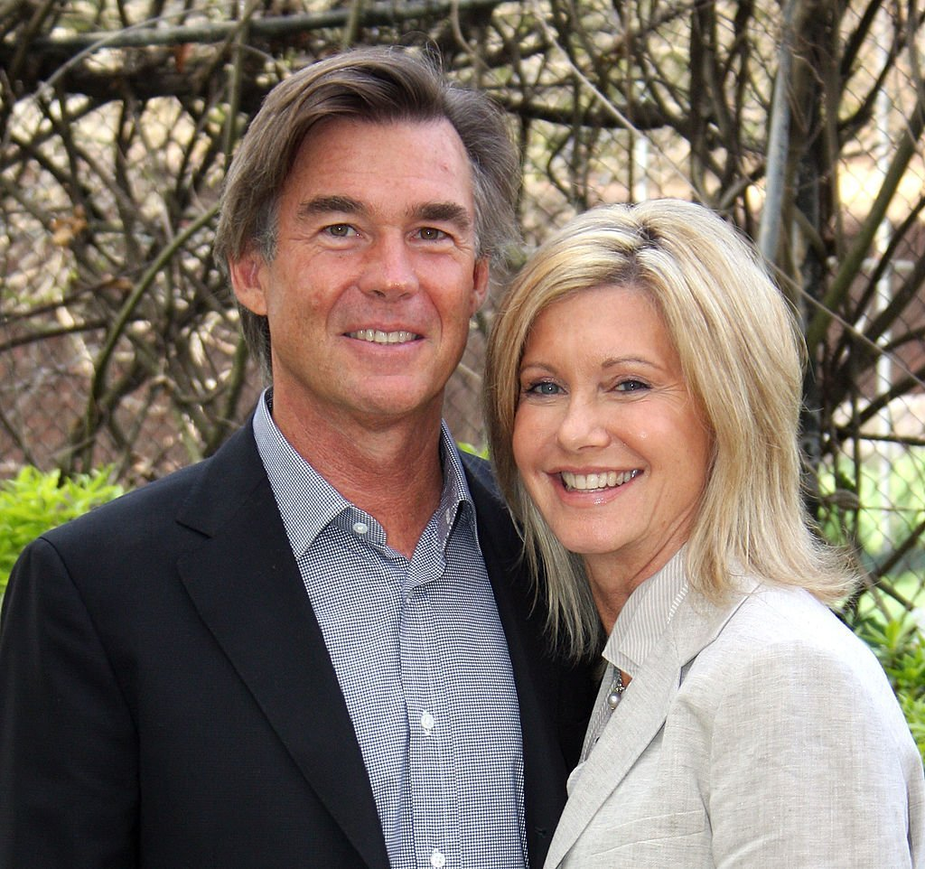 Olivia Newton-John and John Easterling at the Myer Community Fund Garden Party in Toora on September 5, 2008 | Photo: GettyImages