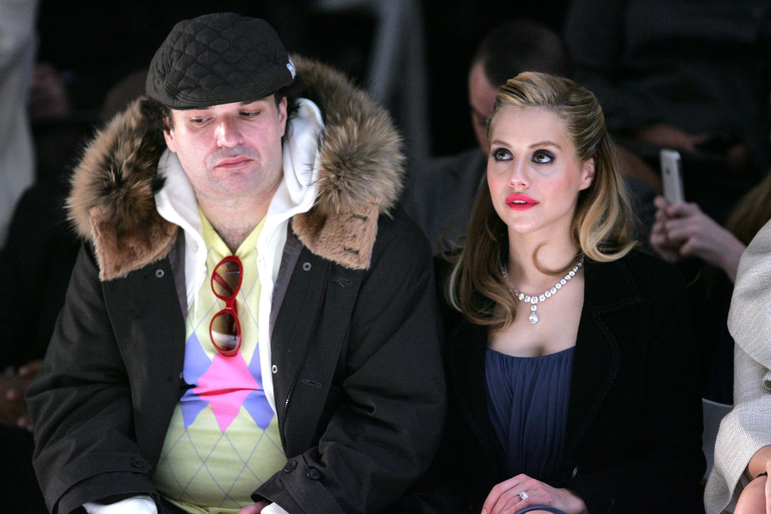 Actress Brittany Murphy and husband Simon Monjack at the Monique Lhuillier Fall 2008 fashion show during Mercedes-Benz Fashion Week Fall 2008 at The Promenade at Bryant Park in New York City   Photo: Bryan Bedder/Getty Images for IMG