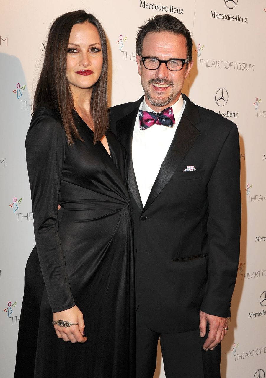 Christina McLarty and David Arquette at the The Art of Elysium's 7th Annual HEAVEN Gala Presented By Mercedes-Benz on January 11, 2014 in Los Angeles, California.   Source: Getty Images
