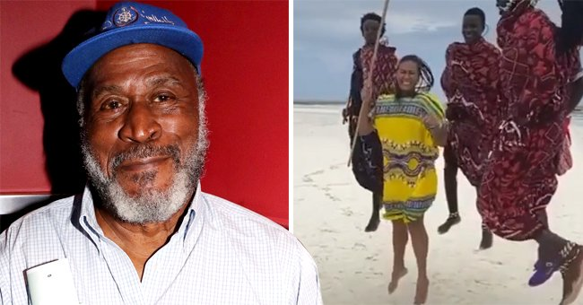 'Good Times' John Amos' Daughter Shannon Jumps in a Bright Yellow Dress with Locals in a Video