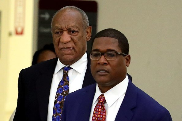 Actor and Comedian Bill Cosby arrives with his spokesman Andrew Wyatt at the Montgomery County Courthouse for sentencing in his sexual assault trial September 24, 2018 in Norristown, Pennsylvania | Photo: Getty Images