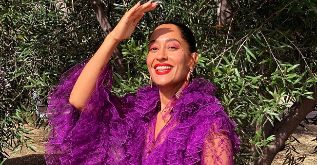 Tracee Ellis Ross of 'Black-ish' Puts Curves on Display in Colorful Swimsuit for 47th Birthday Photos