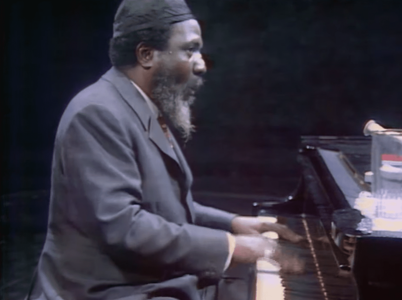 A Jazz Performance of Thelonious Monk in 1970. | Photo: YouTube/FranceMusique