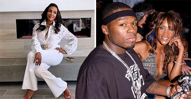 50 Cent's Ex Vivica A Fox Shows Fit Figure in Printed Floral Blouse and White Trousers