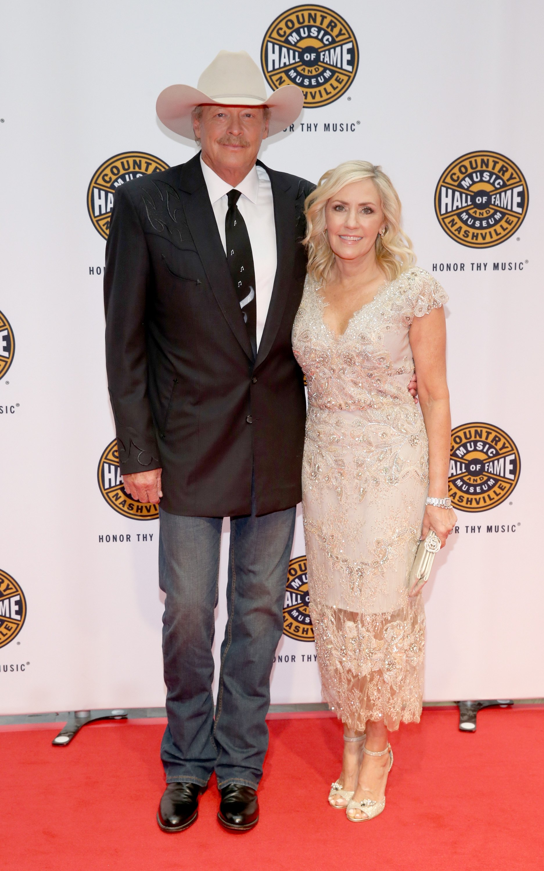 Alan Jackson and Denise Jackson attend the Country Music Hall of Fame in Nashville, Tennsee on October 22, 2017 | Photo: Getty Images