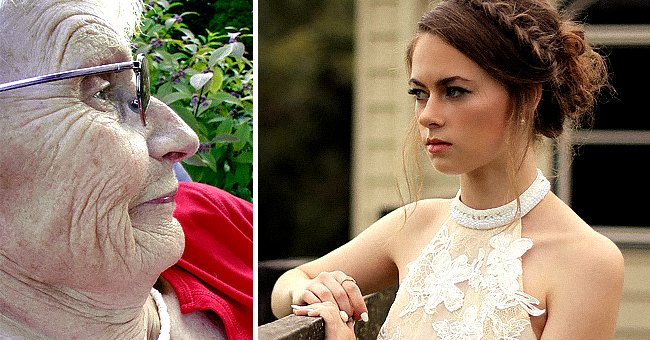 Two images show an elderly grandmother and an angry bride in a face-off   Photo: Pixabay