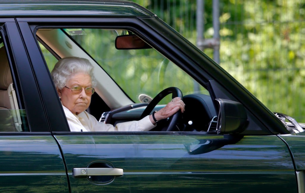Queen Elizabeth II driving at the International Carriage Driving Grand Prix on May 17, 2014, in Windsor, England   Source: Getty Images