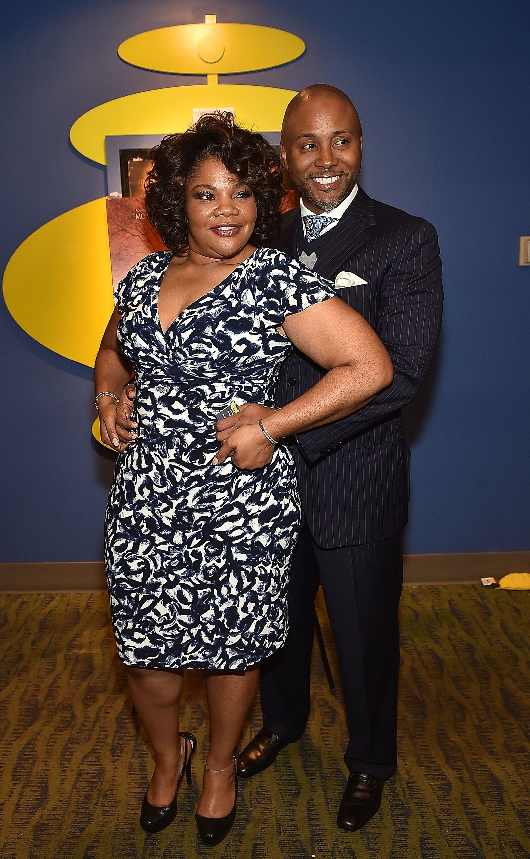 """Actress Mo'Nique and Sidney Hicks at the Atlanta screening of """"Blackbird"""" at Midtown Art Cinema Theatre on April 7, 2015 