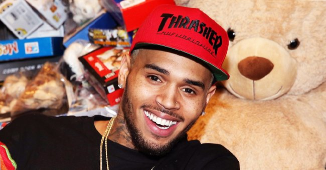 Chris Brown's Baby Son Aeko Shows His Adorable Eyelashes in Cute Photos Wearing a Sun Hat