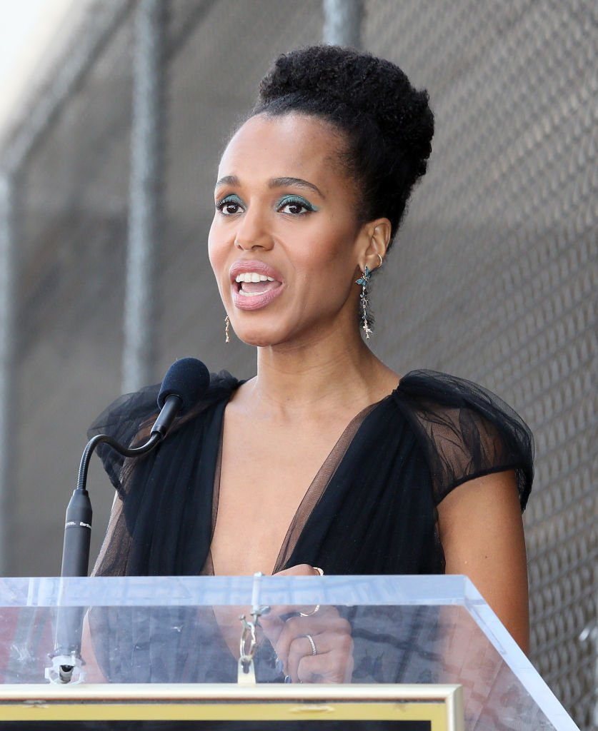 Kerry Washington attends Tyler Perry being honored with a Star on the Hollywood Walk of Fame | Photo: Getty Images