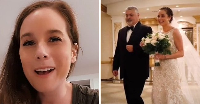 Bride asks her organ donor's father to walk her down the aisle on her big day   Photo: TikTok/thebionicbuffalobeauty
