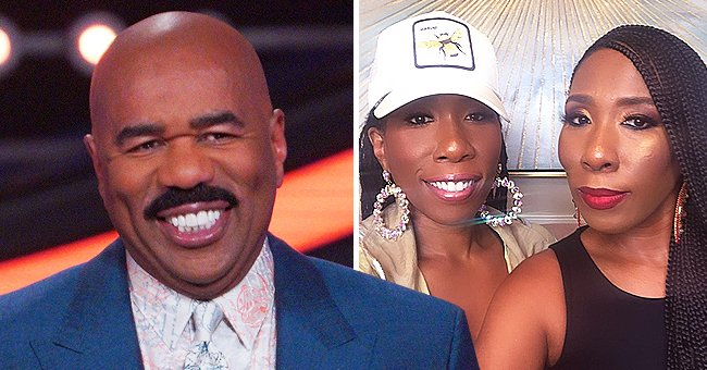 Steve Harvey's Twin Daughter Brandi Is the Epitome of Elegance in a Low-Cut Dress in Pic