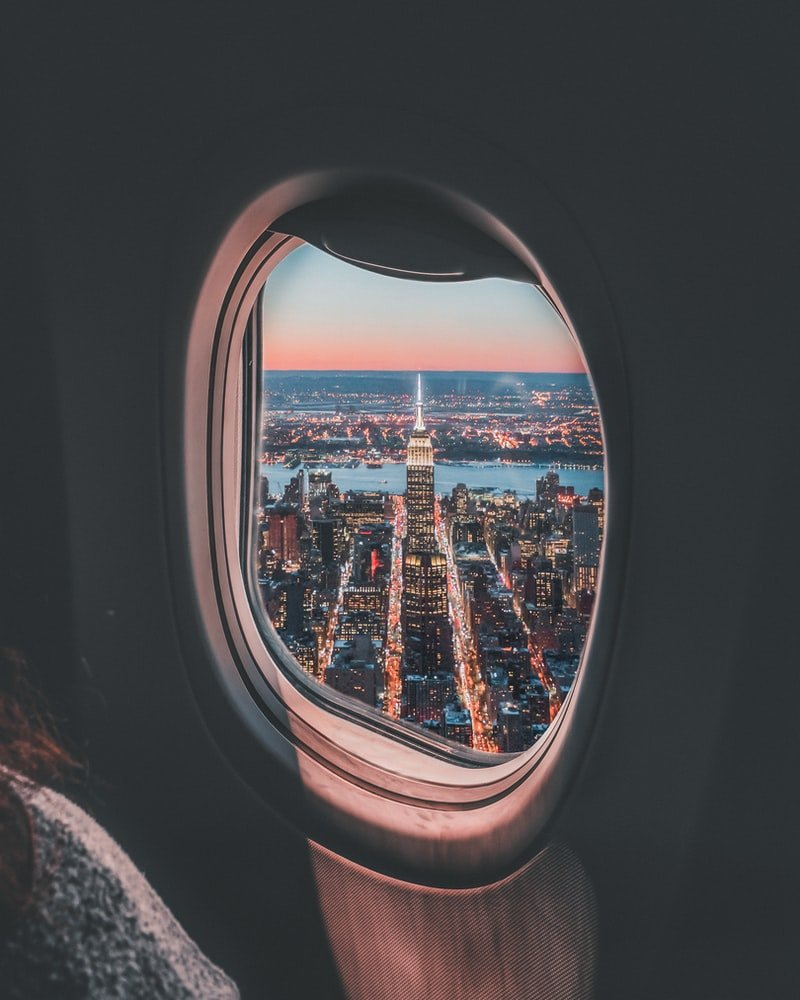 The first gentleman put out his arm and confirmed they were flying over New York.   Photo: Unsplash