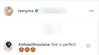 A fan's comment on Remy Ma's picture of her daughter, Reminisce. | Photo: Instagram/Remyma