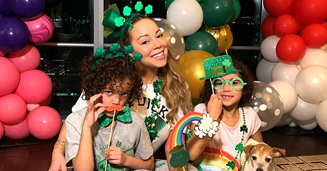 Mariah Carey Is in a Festive Mood Celebrating St Patrick's Day with Her Twins Moroccan & Monroe
