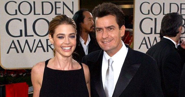 Denise Richards and Charlie Sheen at the 59th Annual Golden Globe Awards, 2002 | Photo: Getty Images