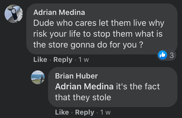 Netizens comment on criminals who casually robbed a store without any visible concern about being caught | Photo: Facebook/andrew.sullivan3
