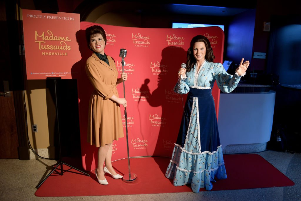 "Madame Tussauds' wax figures of Patsy Cline and Loretta Lynn are seen at the Lifetime Presents A Special Screening And Reception for ""Patsy & Loretta"" at the Franklin Theatre on October 09, 2019. 