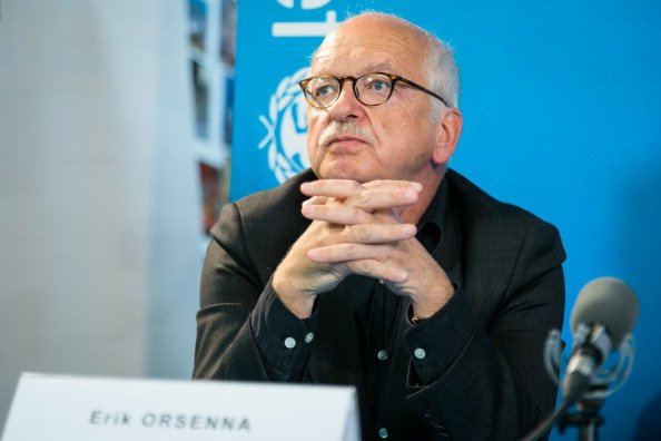 Erik Orsenna à l'Unicef France le 18 octobre 2012 à Paris, France. | Photo : Getty Images